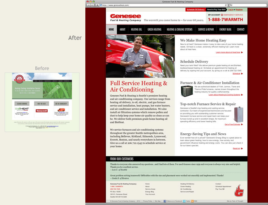Genesee Heat website case study